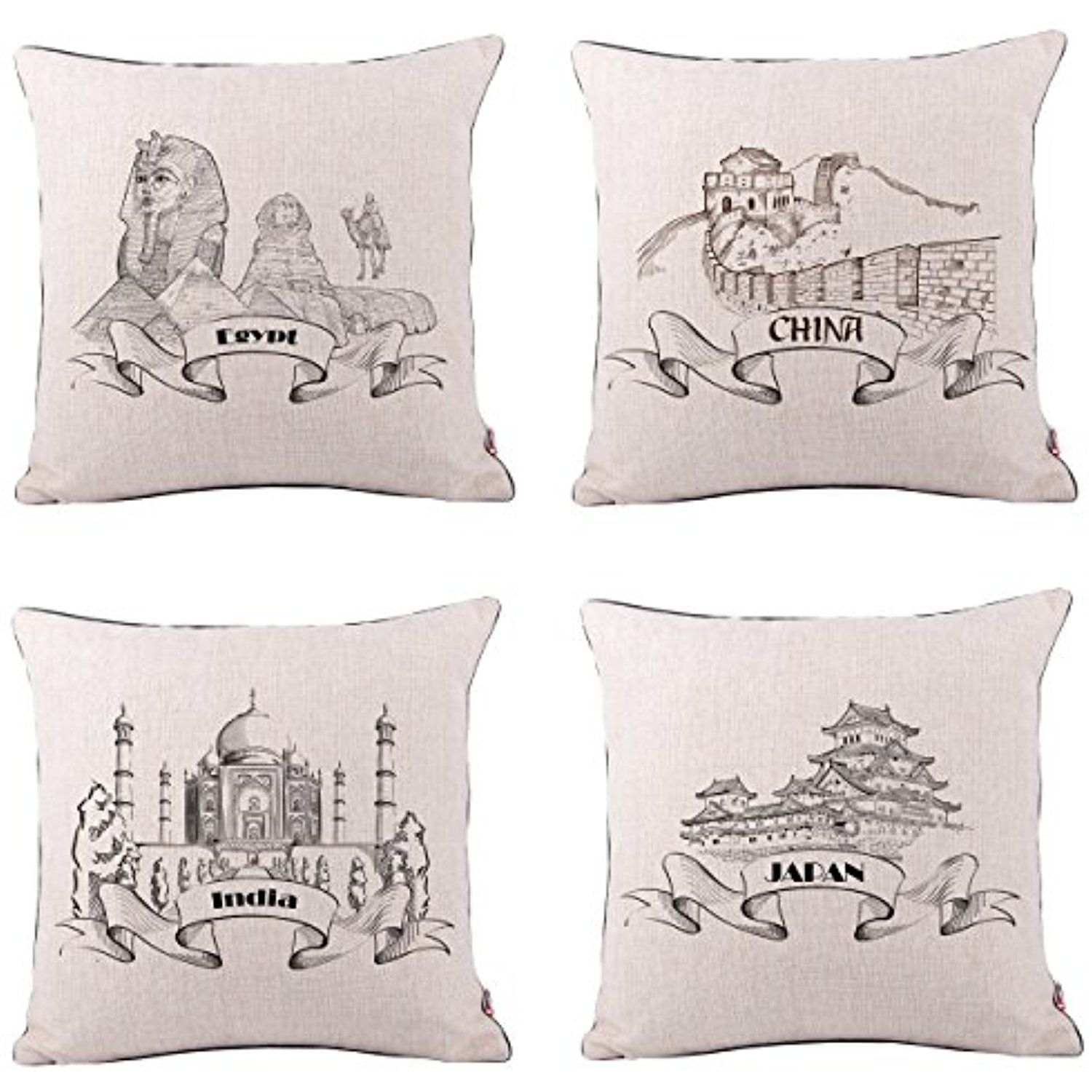 Queenie  4 Pcs Famous Landmarks In The World Thick