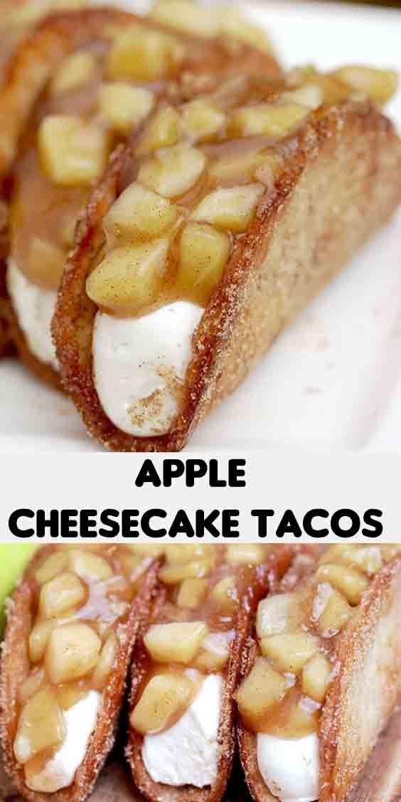 Photo of APPLE CHEESECAKE TACOS RECIPE  desserts candy & bakery #Apple #bakery #Candy #Ch…