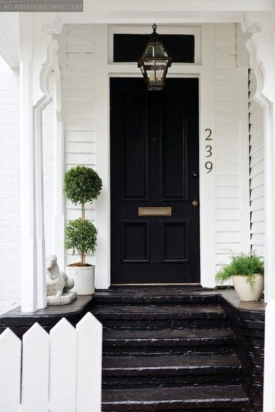 Pin By Jasmine Olivia On Curb Appeal Cottage House Exterior Black Front Doors House Exterior