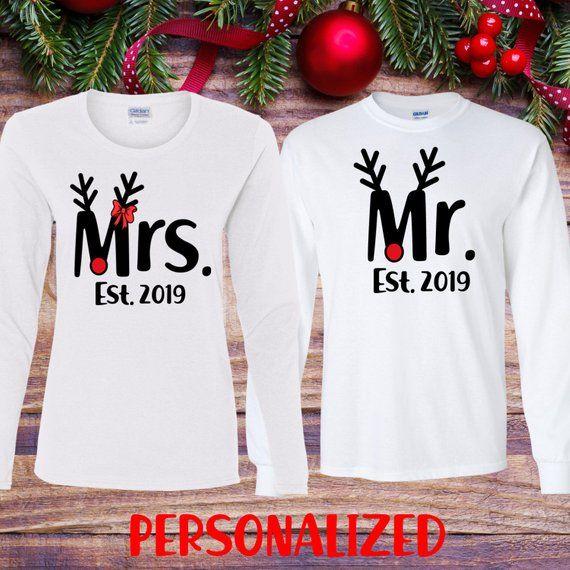 His And Hers Matching Christmas Pajamas: Mr And Mrs Christmas Shirts