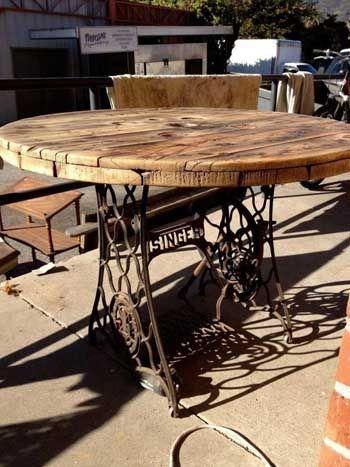 Bioguia Inspirando El Cambio Mesas Maquinas De Coser Muebles Maquinas De Coser Muebles Reciclados