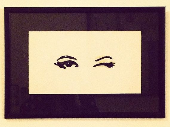 Wink Wall Art by VOULEZBOUTIQUE on Etsy