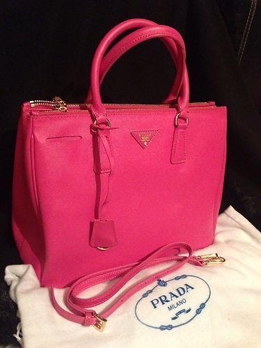3f10e338259745 Hot Pink Saffiano Bag | Accessories:) | Bags, Fashion, Prada