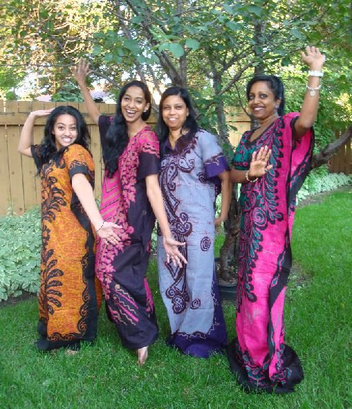 Select Styles Of Batik Maxi's- Hand Made By Relatives In