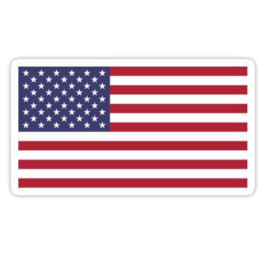'American Flag' Sticker by states