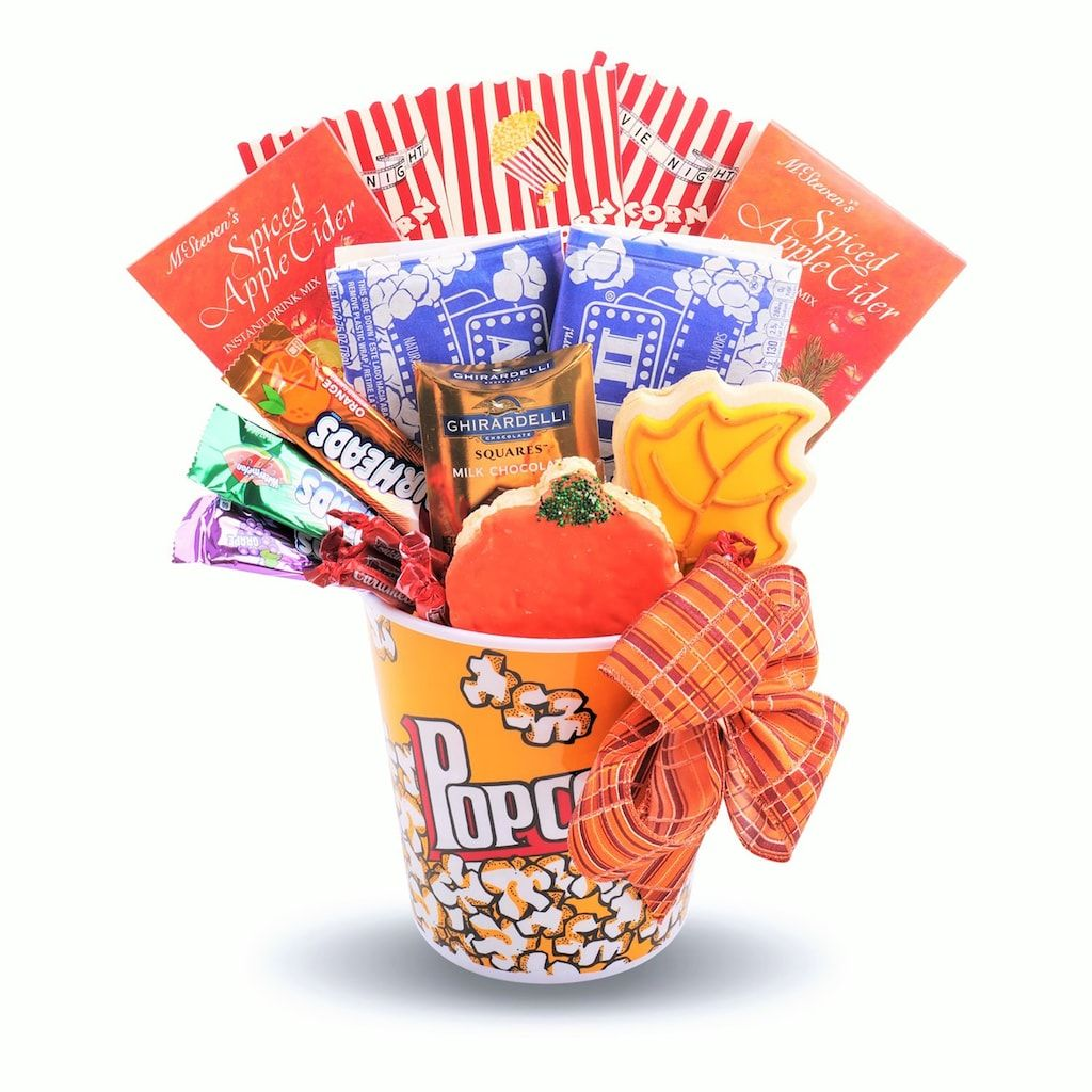 Alder Creek Fall Movie Night Treats Gift Basket