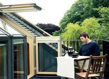velux la fen tre terrasse de toit gel velux vea veb vec loft pinterest attic rooms. Black Bedroom Furniture Sets. Home Design Ideas