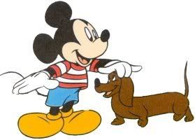 Mickey Mouse with Doxie