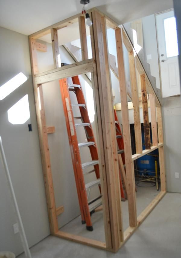 Building A Closet Under The Stairs Ana White Basement