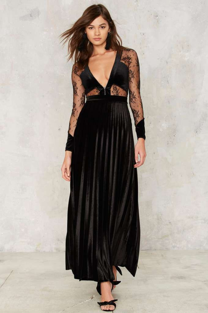 Just Female Hello Darkness Velvet Skirt | Shop Clothes at Nasty Gal!