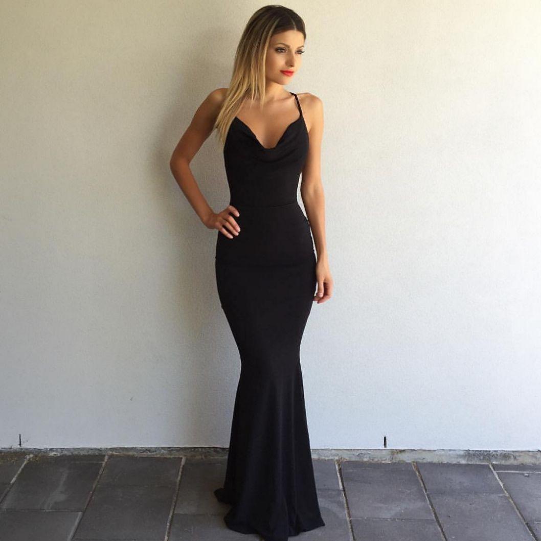 Prom dress black dress sexy dress long black dress mermaid dress