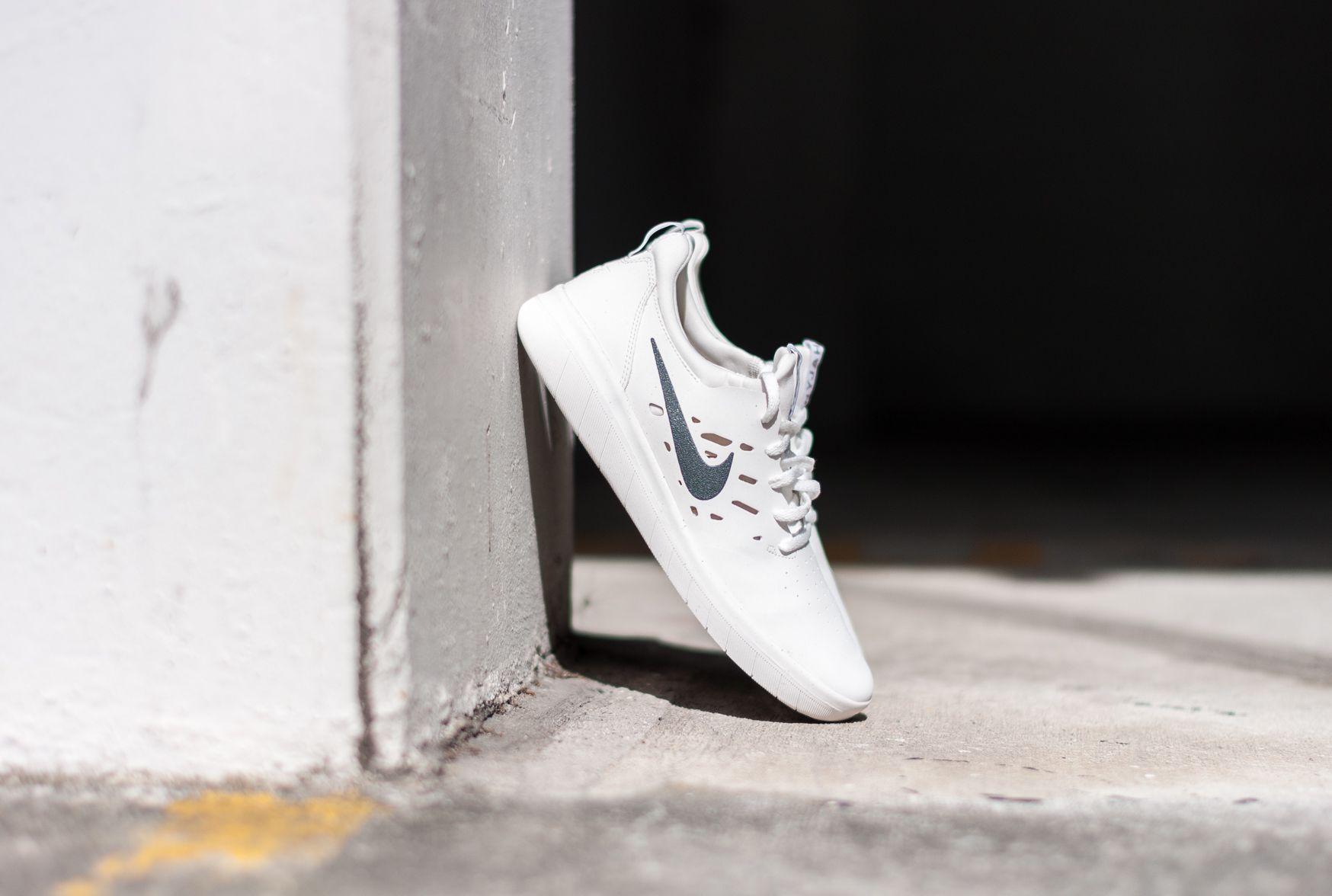 Nike SB Nyjah Free White Shoe.  2a0cf3a00