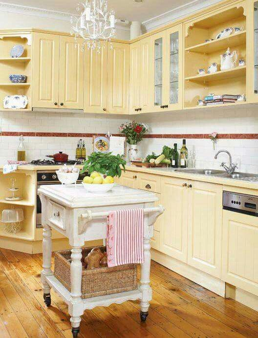 Love the creamy yellow. One of my favs! | Kitchen trends ...