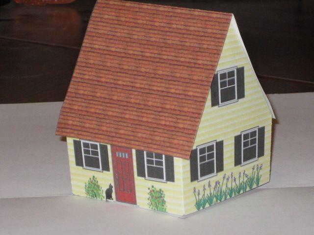 Cottage Pop Up Template Pop Up Book Pop Art Paper Pop