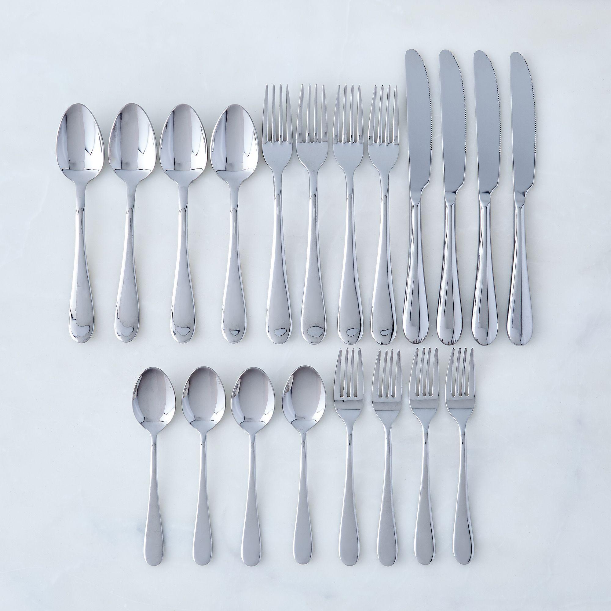 Italian Stainless Steel Flatware (20-Piece Set) | Kitchen redo ...