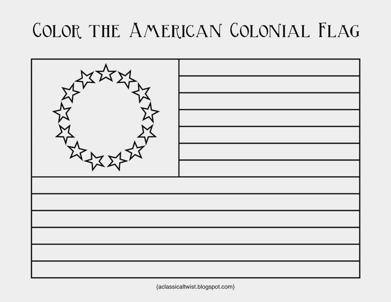 13 Colonies Flag Coloring Page Unique 13 Colonies Flag