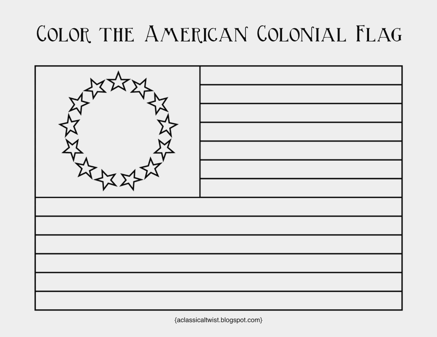 Unique 13 Colonies Flag Coloring Page Colonial Flag 13 Colonies