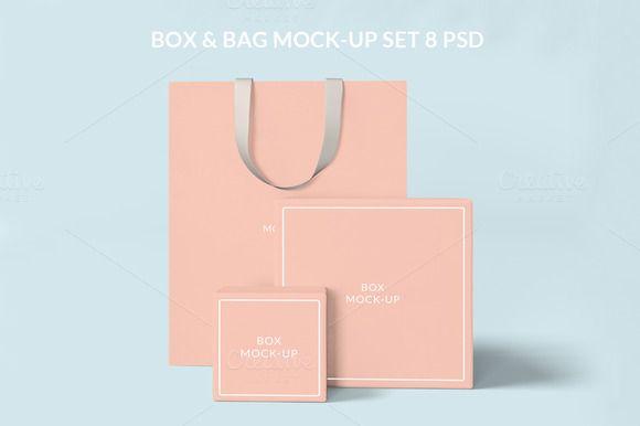 Download Box And Bag Mock Up Set 8psd Mockup Mocking Box Mockup