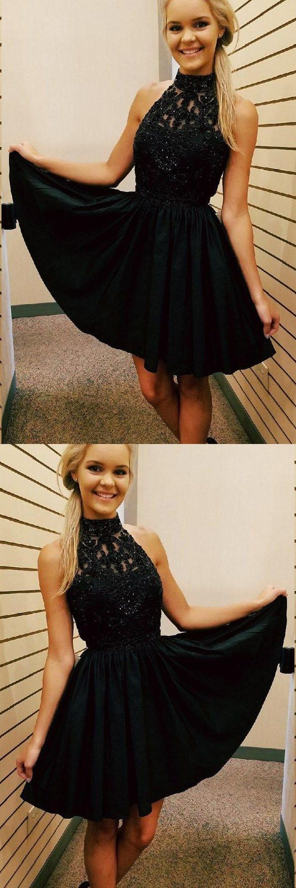 Little black dress sparkly homecoming dresses short prom dress party
