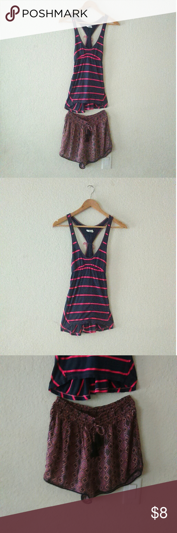 Free People & Japna Bundle Super Cute bundle of a Free People tank top and a pair of Japna shorts. Shorts medium but run a little small top small. Free People Other