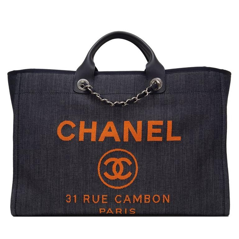1bbd62ebf7c3 Chanel Blue and Orange Large Deauville Shopping Tote