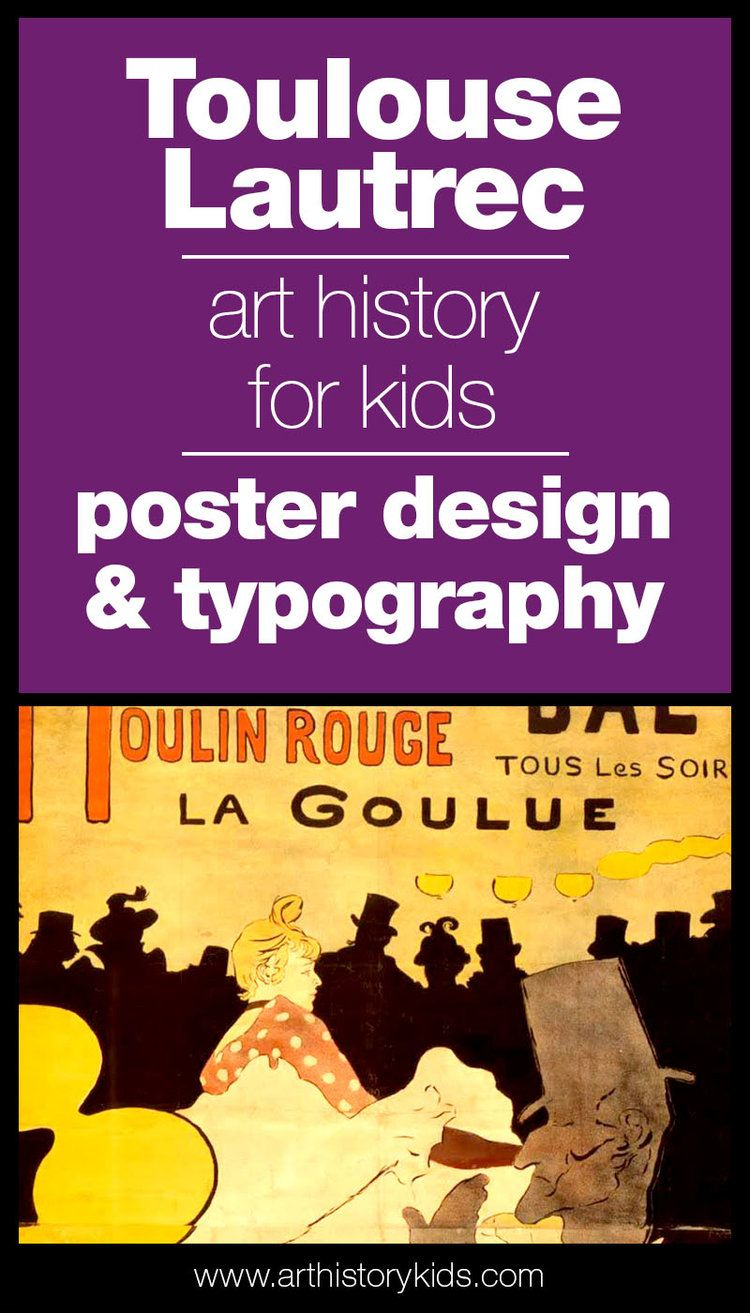 Photo of Toulouse Lautrec and Poster Art for Kids — Art History Kids