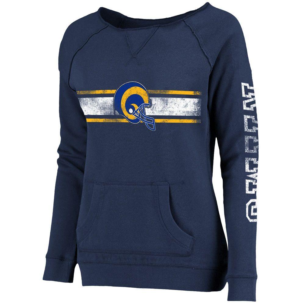 Women S St Louis Rams Pro Line Navy Vintage Pocket Boatneck Sweatshirt Sweatshirts Los Angeles Rams Gear Apparel Merchandising [ 1000 x 1000 Pixel ]