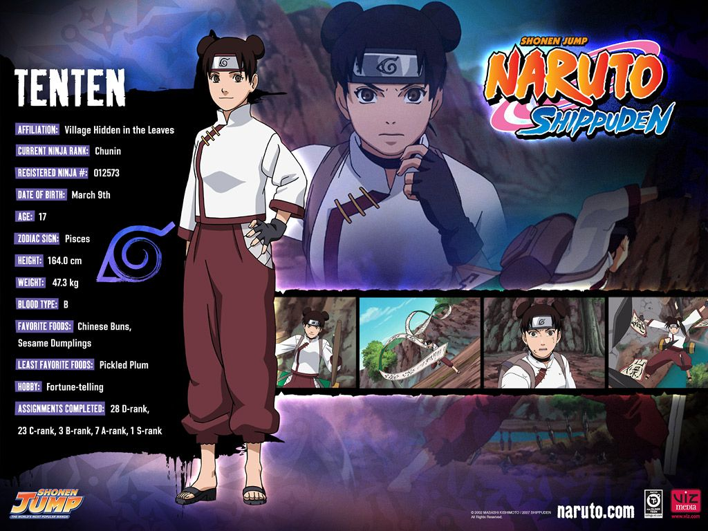 Naruto Characters Character Info Favorites List