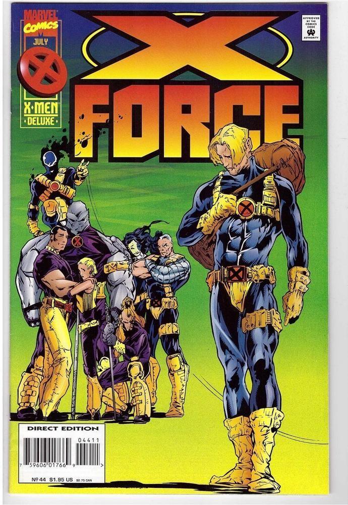 X Force 44 July 1995 Marvel Comic Book X Men Warpath Domino Cable Shatterstar X Force Comics X Men
