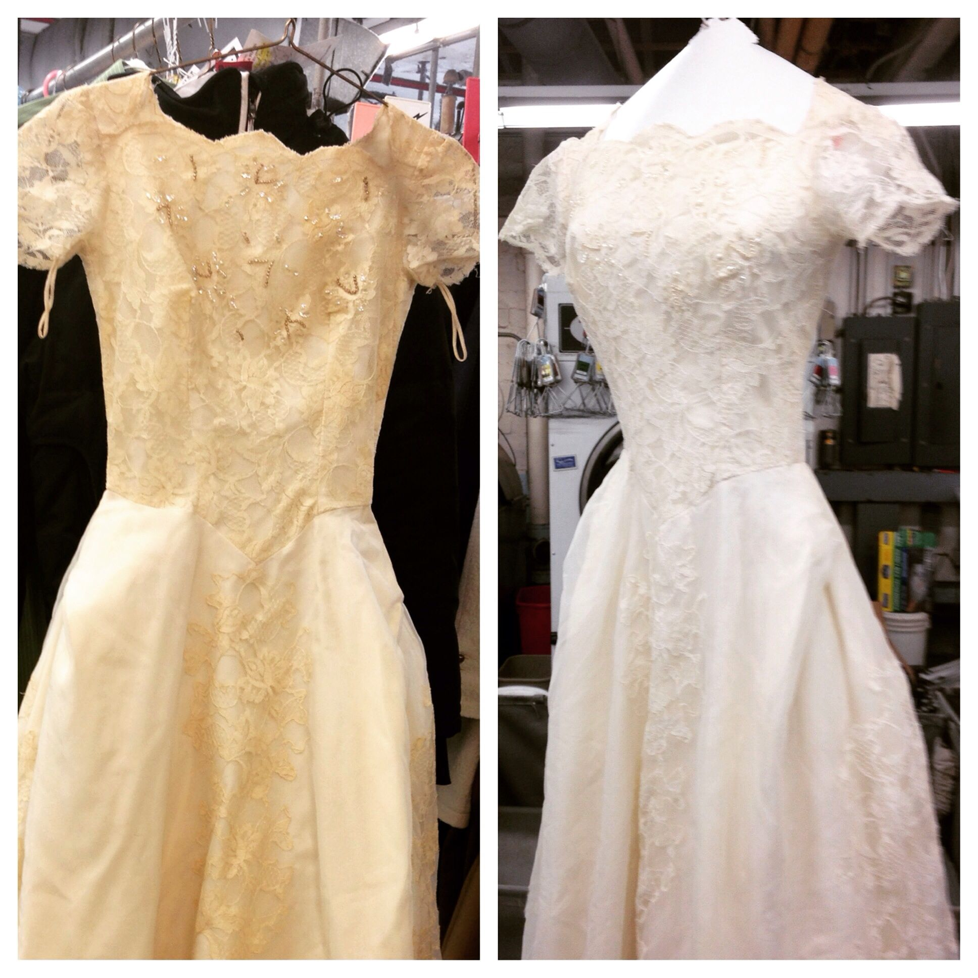 Restoration Wedding Gown: The Before And After Of The Vintage Wedding Dress Brought
