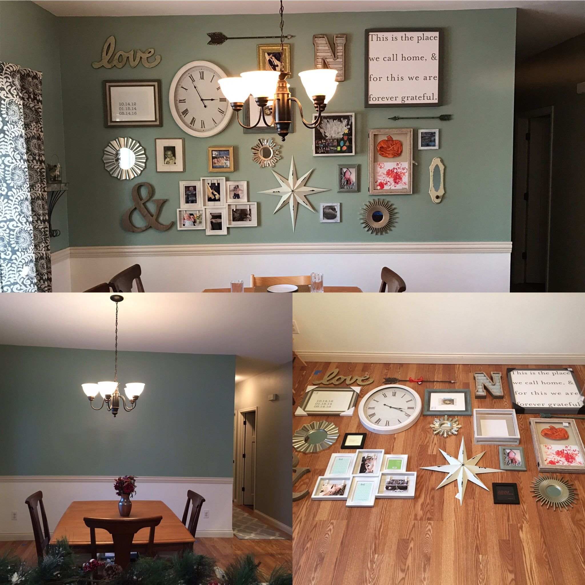 Furniture And More Galleries: Before And After Gallery Wall In Our Dining Room. We