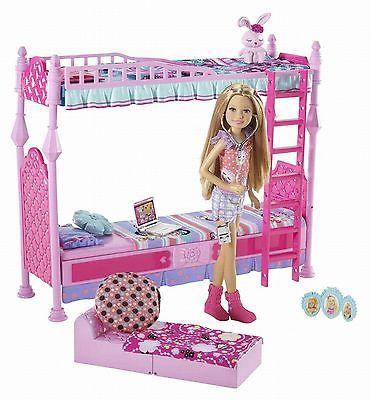 Barbie Sisters Sleeptime Bedroom Playset Bunkbed Stacie Doll Girl