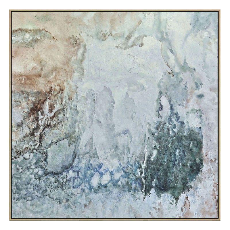 Gray shades raw oak framed canvas various sizesthe block shop channel 9 canvas prints onlineframed