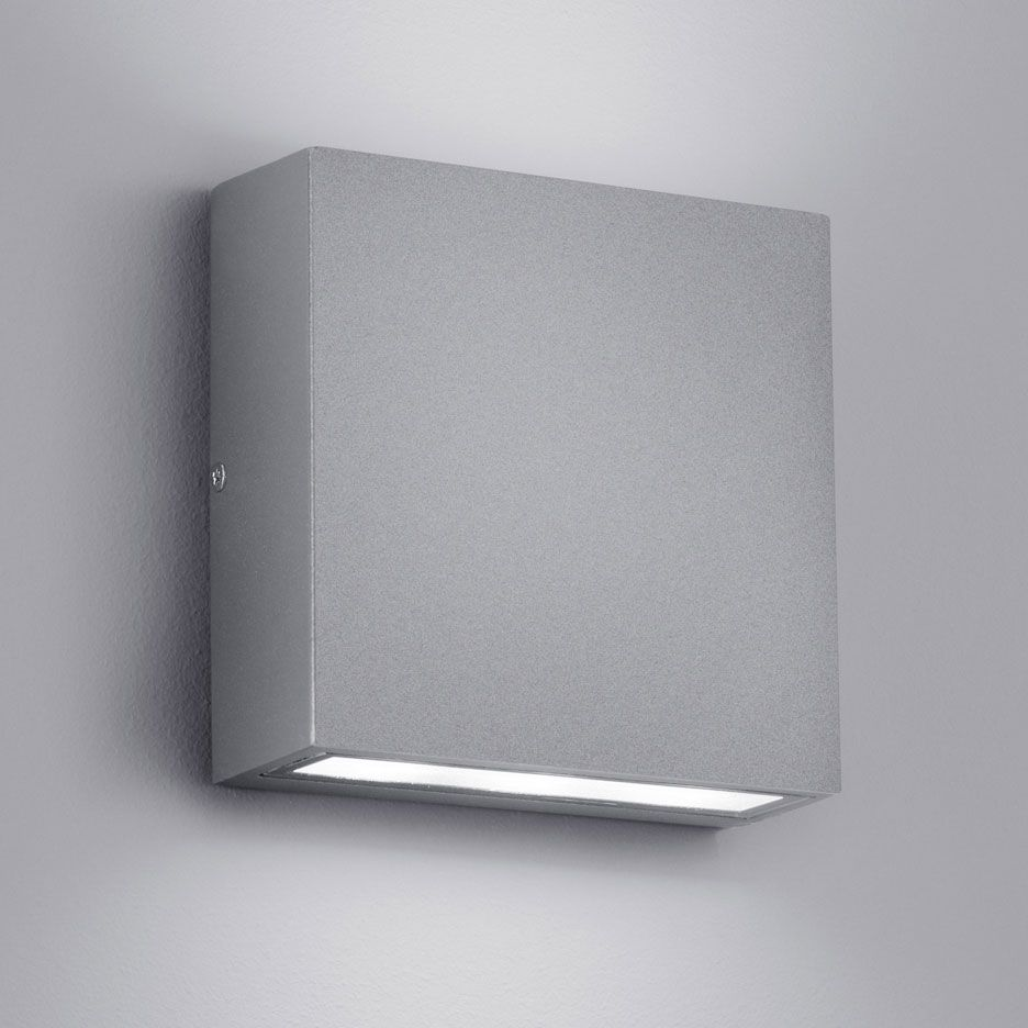 The Sleek And Simple Thames Outdoor Wall Light Features A Dark Grey Or Light Grey Finish And Provides Bo Wall Lights Outdoor Wall Lighting Led Outdoor Lighting