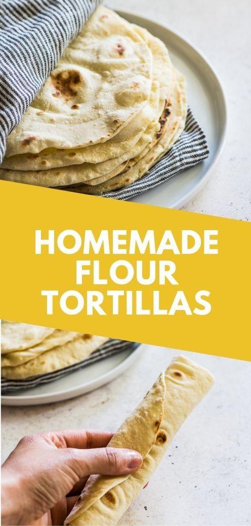 Easy Flour Tortillas Recipe Flour Tortillas Mexican Food