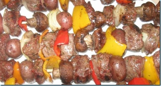 Grilled Beef and Potato Kebob Recipe