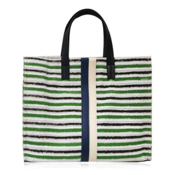 0333d6bda0 RoseWholesale - Rosewholesale Canvas Color Block Tote Bag - AdoreWe ...