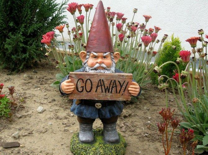 Gnome Go Away Dwarf Garden Dwarfs