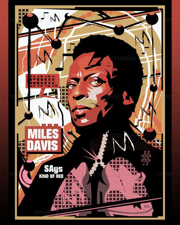 Miles Davis Poster by Kazu Livingstone on CreativeAllies.com