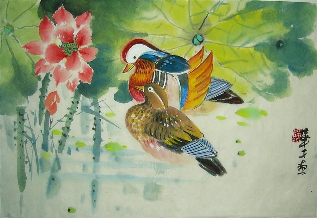 Mandarin ducks mate for life feng shui birds for Chinese feng shui house