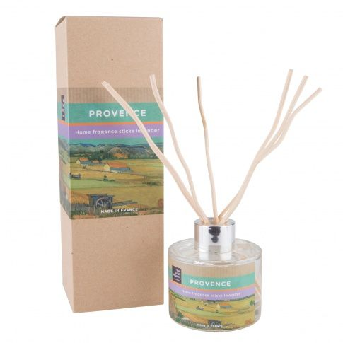 This home fragrance with the fresh smell of lavendel flowers has been especially developped for the Van Gogh Museum. It is an artisan product made in the Provence, the area which inspired Vincent to many of his masterpieces! Content: 120 ml.