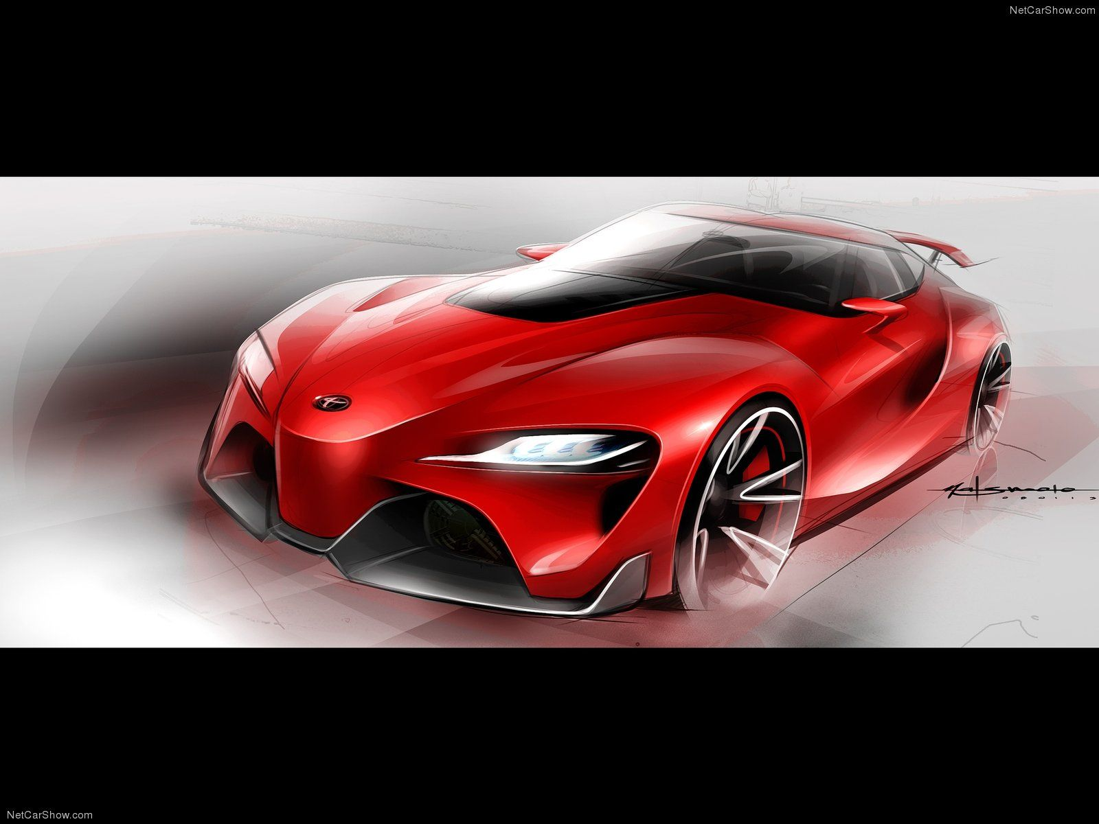 Toyota FT 1 Concept 2014 wallpaper 3a Sketch