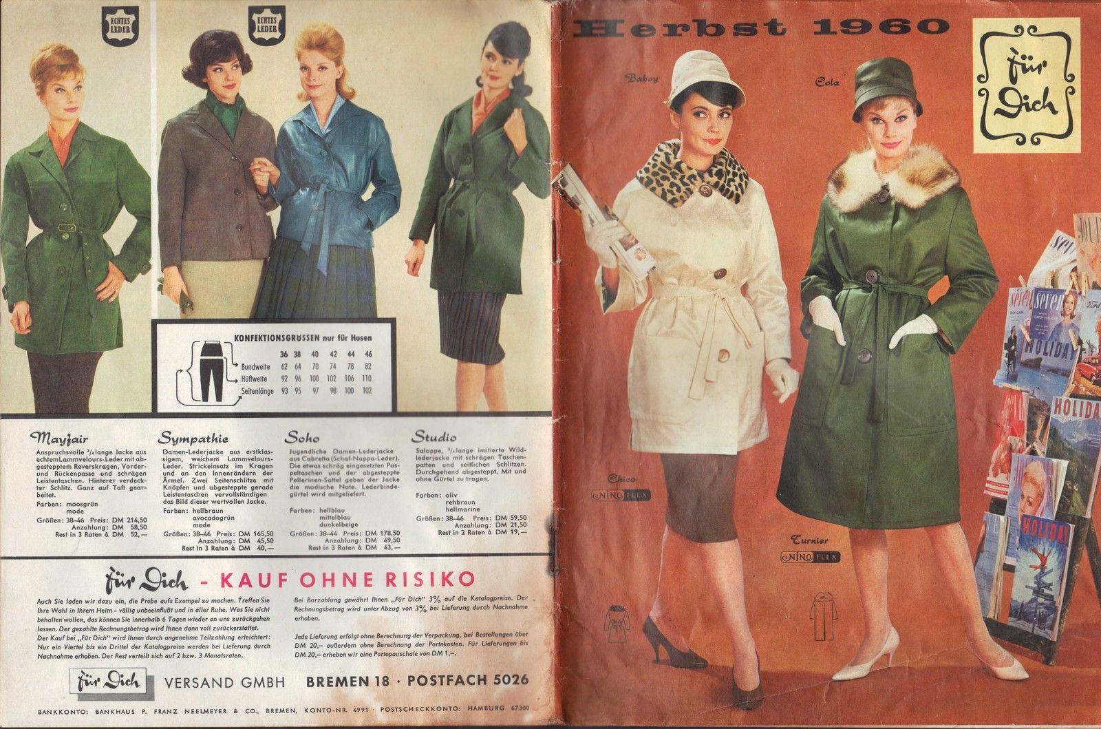 BREMEN 18, Katalog 1960, Für Dich Versand GmbH Damen-Mode Kleidung ...
