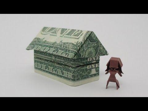 geldscheine falten haus origami geldgeschenk zum richtfest anleitung youtube haus. Black Bedroom Furniture Sets. Home Design Ideas