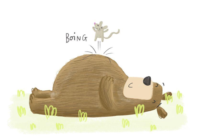 bear boing - Becky Down Illustration