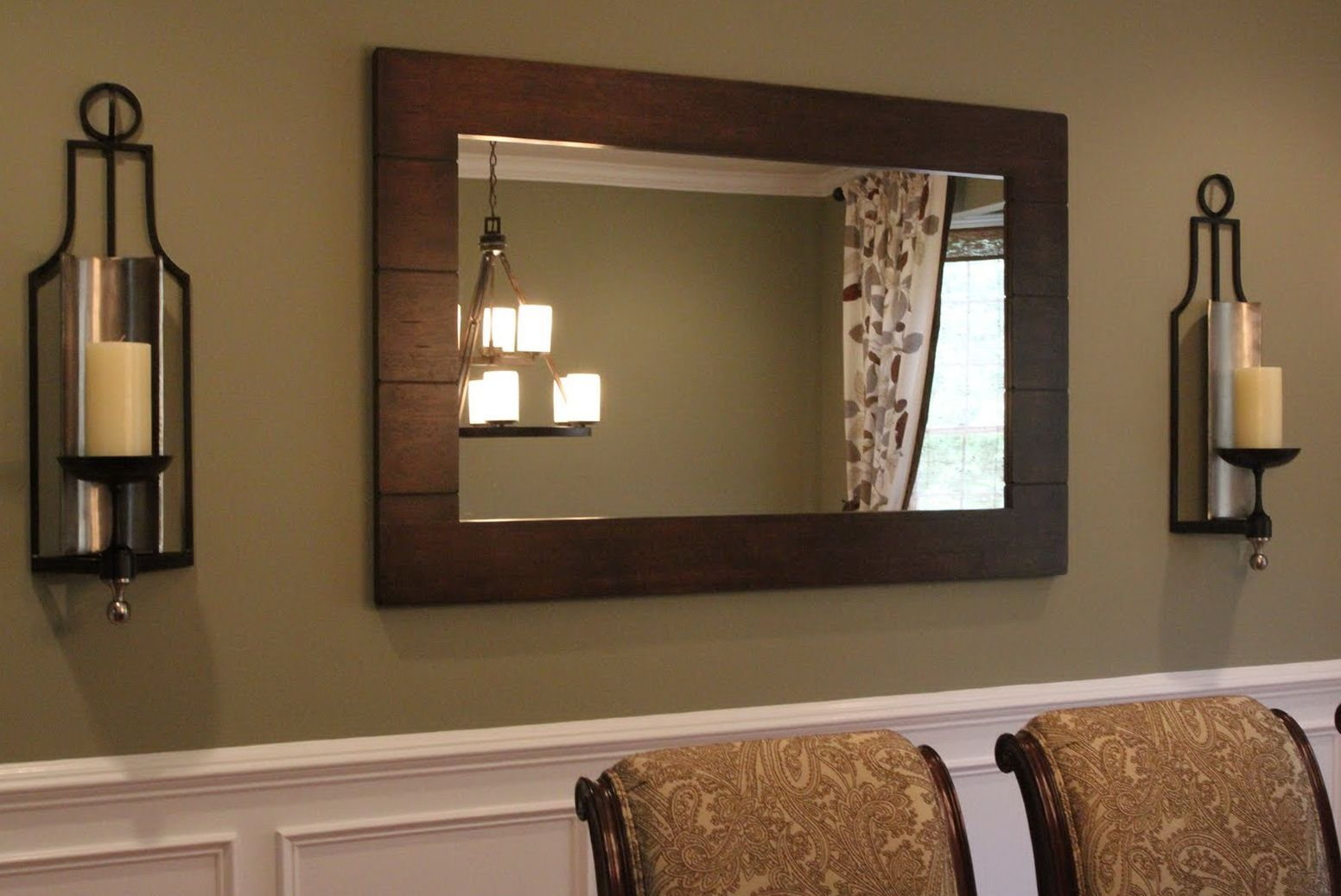 Extra Tall Wall Sconces | Dining room mirror wall, Dining ... on Dining Room Sconce Idea id=65068