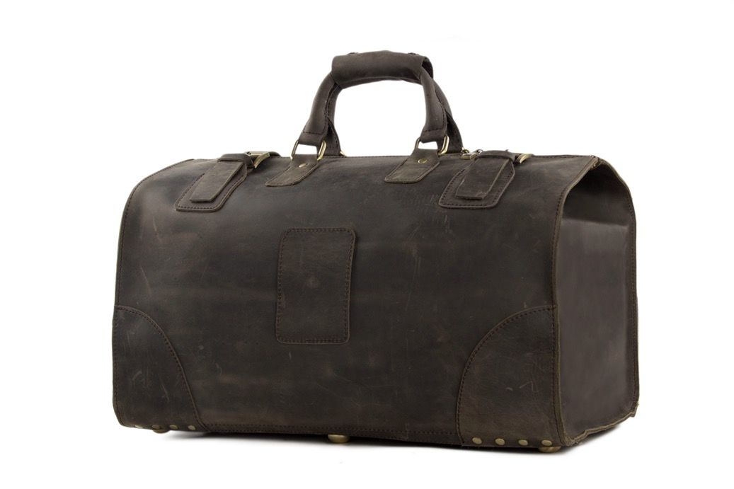 f2b0cdf17a Extra Large Vintage Genuine Leather Duffle Bag