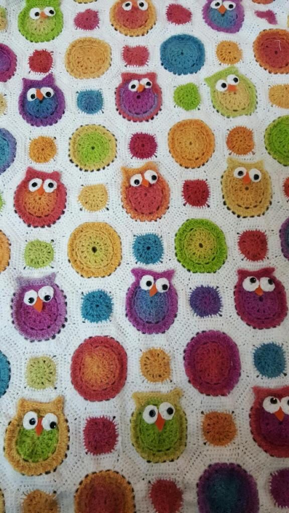 A personal favorite from my Etsy shop https://www.etsy.com/listing/294202003/owl-baby-blanket-crochet