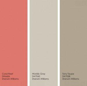 How to Give Neutral Paint Colors a Subtle Jolt | Paint chips, Coral ...