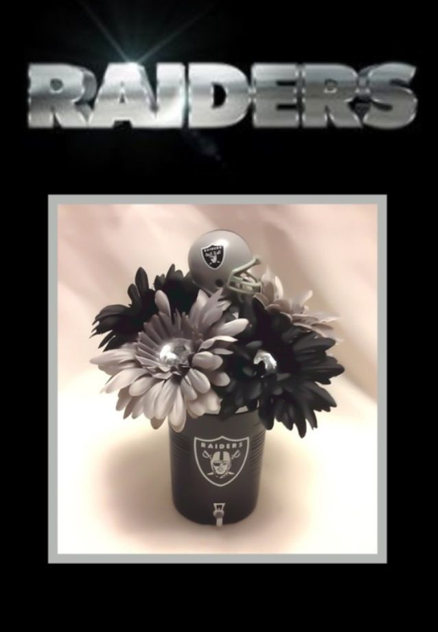 Oakland Raiders Flower Pen Bouquet Www Creativepensbyedith Com Creative Pens By Edith Raiders Raiders Gifts Raider Nation